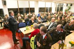 Wolfurt am 8.2.2020 FW Feuerwehr Betriebswfeuerwehr OeBB Gueterbahnhof, 34. Jahreshauptversammlung, Portraits, Gruppenbilder, Ehrungen, Neuaufnahmen,